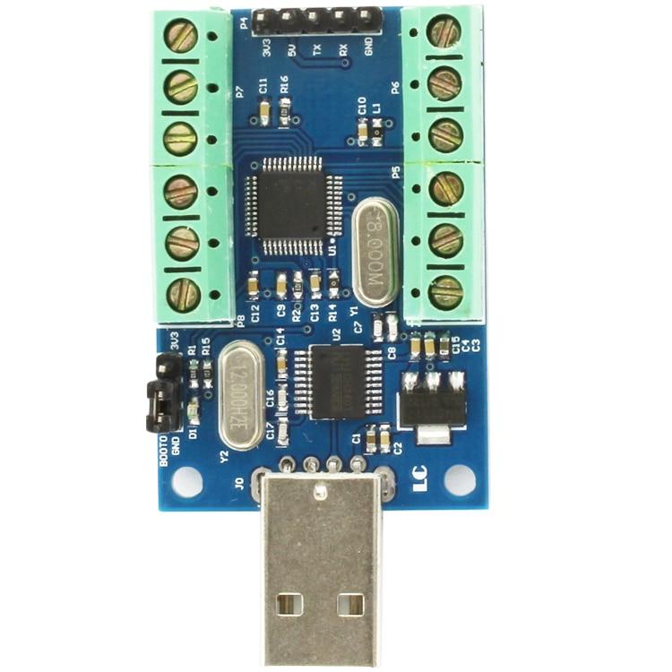 USB DAQ Data Acquisition 10 Channels 12-bit Analog Inputs 10AD STM32 UART ADC Module