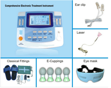 combination ultrasound tens acupuncture laser physiotherapy machine EA-VF29 free shipping factory sales 9 channels tens machine china ea vf29 with ce approved