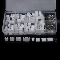 40 Sets Kit 2P 3P 4P 5P Right Angle 2.54mm Pitch Terminal Housing Pin Header Connector Adaptor Connectors