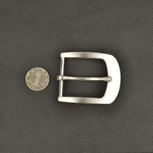 fashion solid stainless steel metal 40mm leather belt pin buckle