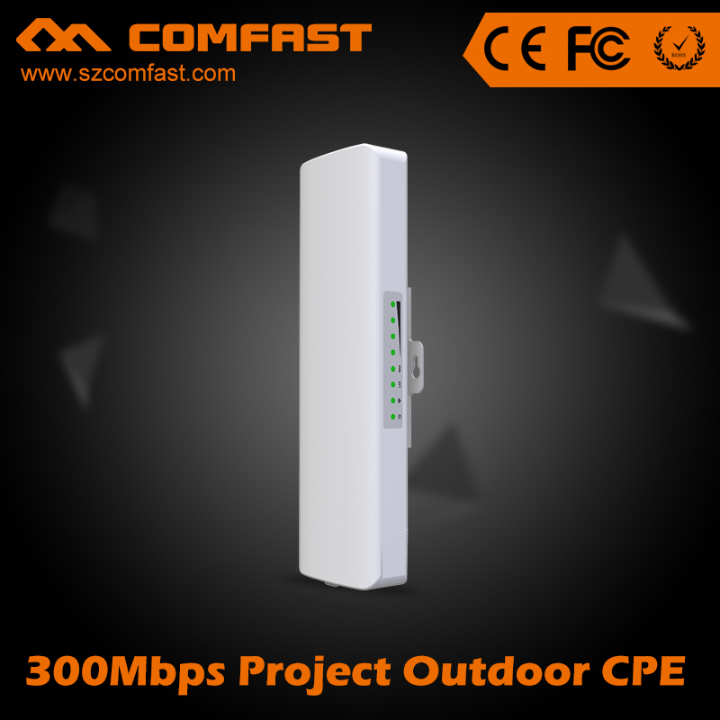 ФОТО 4PCS DHL free COMFAST CF-E312A 5G Wireless AP CPE 300Mbps Outdoor wifi access point 2*14dBi repetidor wi-fi antenna Nanostation