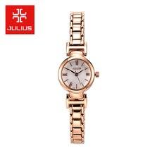 New Julius Lady Women s Wrist Watch Quartz Hours Best Fashion Dress Shell Bracelet Office Metal
