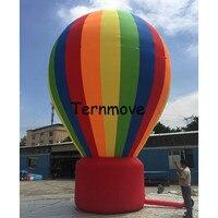 Riesen werbung Regenbogen Aufblasbare ballon Werbe Schlauchboote Boden Ballon für ausstellung heißer luft ballon form