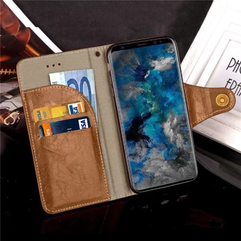 Galleria fotografica For Samsung A8 2018 Etui Cover Case For Coque Samsung Galaxy A8 2018 Case Cover A530F Luxury Leather Flip Stand Wallet Funda