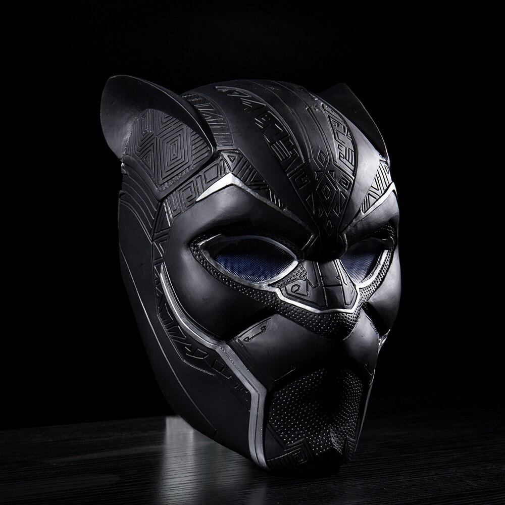 2018 New Black Panther Helmet Cosplay T'Challa Mask Costume Halloween Helmet Handmade PVC prop (6)