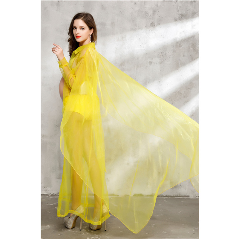 Y Maternity Dresses For Photo Shooting Photography Props Pregnancy Clothes Yellow Transpa Mesh Pregnant Dress In From Mother Kids