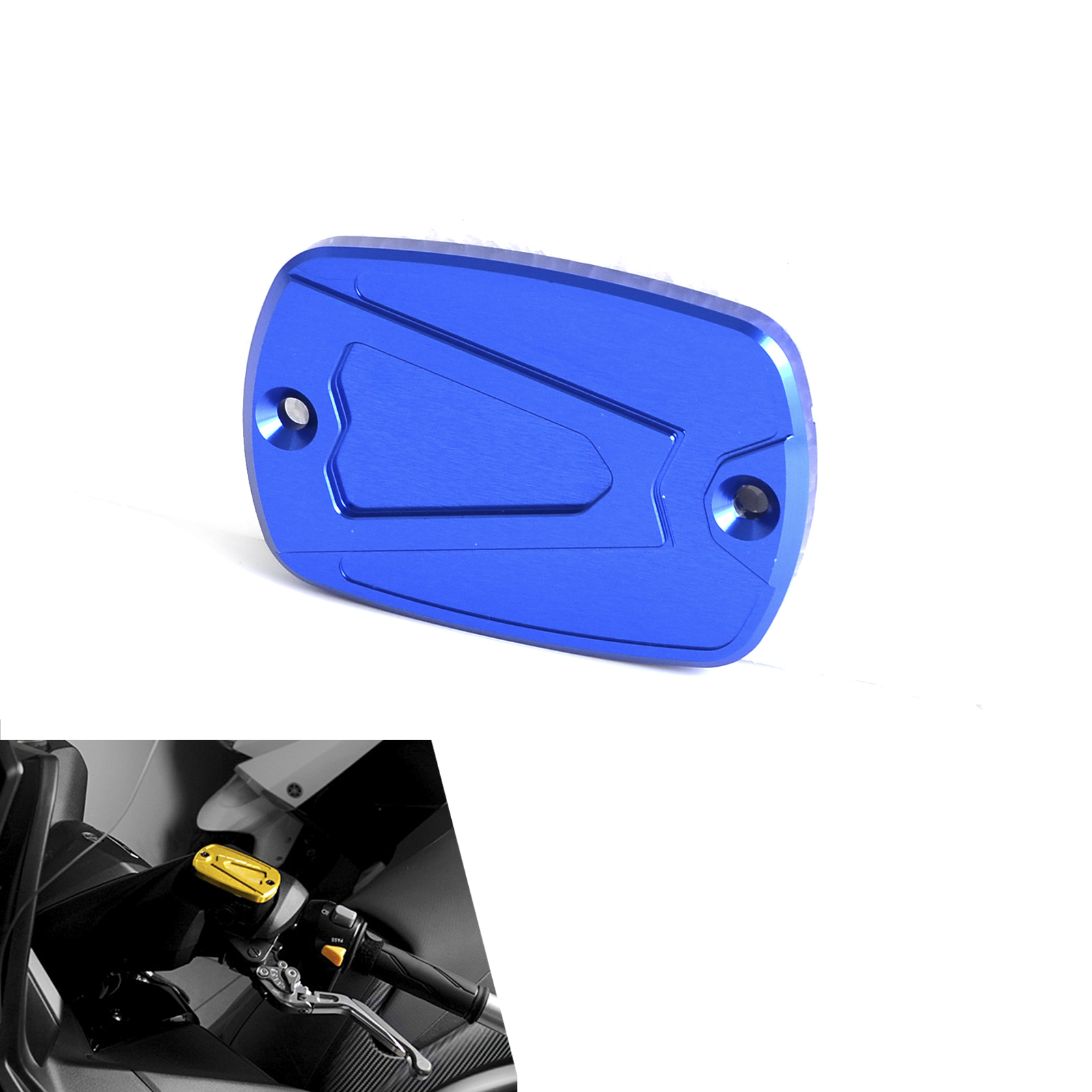 NEW Motorcycle CNC Front Master Cylinder Brake  Reservoir Cap Cover For Yamaha T-MAX 530 2012 2013 2014 2015 motorcycle cnc front brake fluid reservoir cap cover for yamaha t max 530 500 tmax530 xp530 2012 2016 tmax500 xp500 2008 2011