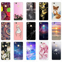 A For Cover Huawei P9 Lite Case Cute Animal Silicon Soft TPU for Funda Huawei P9 Lite Case 2016 P9 P9Lite Phone Back Cases