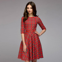 Casual Half Sleeve Stretchy Work Office Knee Length Dress