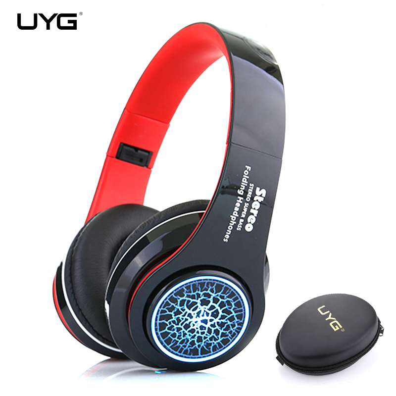 Bluetooth Headphone Wireless Headphones HiFi Stereo Headset With Microphone Cool Shiny LED Music Headphone Support TF Card FM new wireless headphones stereo bluetooth headset card mp3 player earphone fm radio music for music wireless headphone