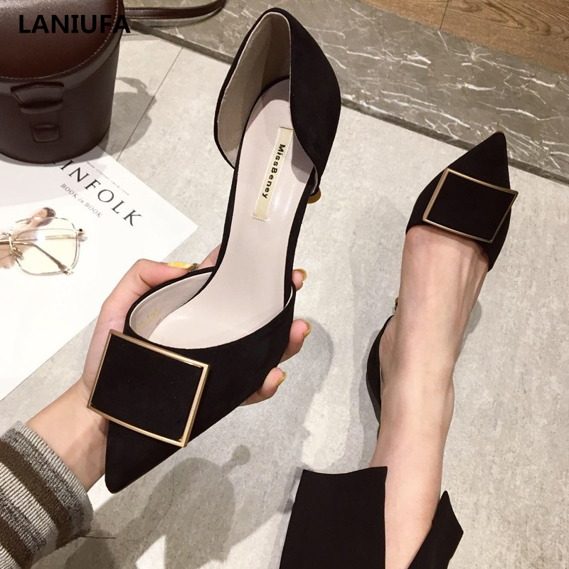 Women High Heels Shoes Women Pointed Toe Shallow Slip-On Pumps Dress Party High Heels Sandals Women Sandals Plus Size 35-43 &207