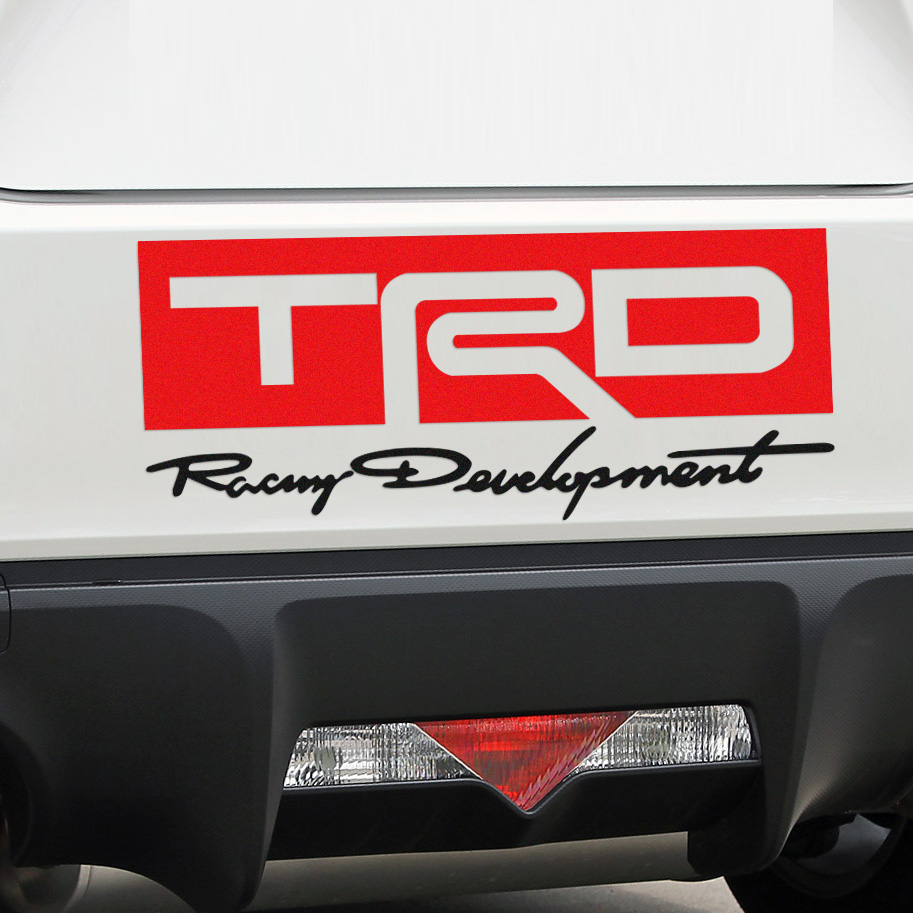 Car decal designer online - Trd Car Stickers Decal Car Styling For Toyota Corolla 2014 Avensis Rav4 Auris Yaris Car Accessories