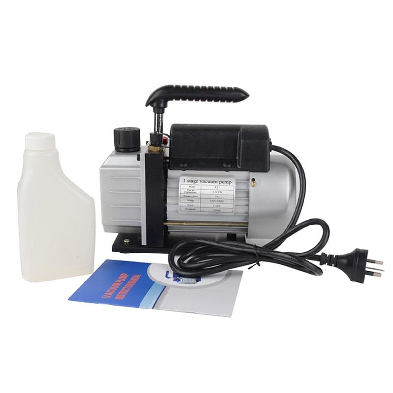 220 V 3CFM 1/4HP rotatif 1 étage pompe à vide réfrigérant jauges outil climatisation à un étage pompe à vide MAYITR