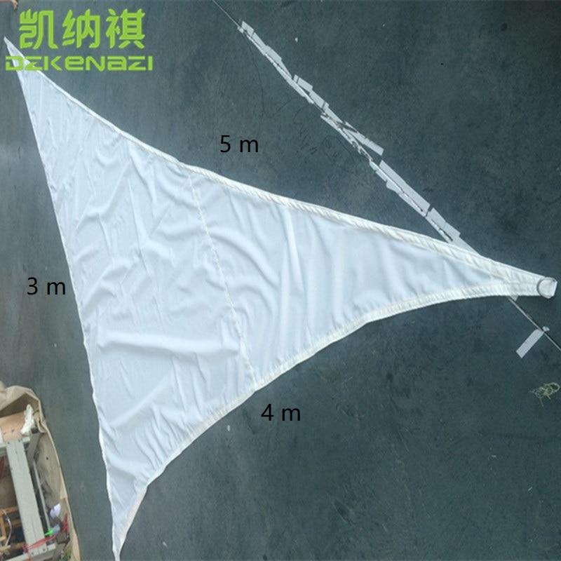 free shipping 3x4x5 M/pcs triangular Waterproof Sun Shade Sail combination 180 gsm PU Polyester fabrics used as garden sun shade