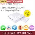 16 канала ONVIF мини видеорегистратор цифровой видеорегистратор 16-канальный 1080 P/960 P/720 P или 9ch 5mp/4mp/3mp видеонаблюдения GANVIS GV-TM816M2H
