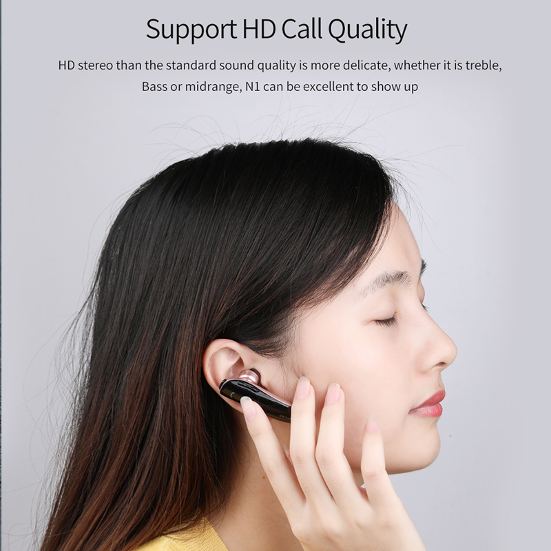 AWEI N1 Unilateral Bluetooth Headset for driving Stereo mini true Wireless Earphones with mic Handfree earbuds noise cancelling 4