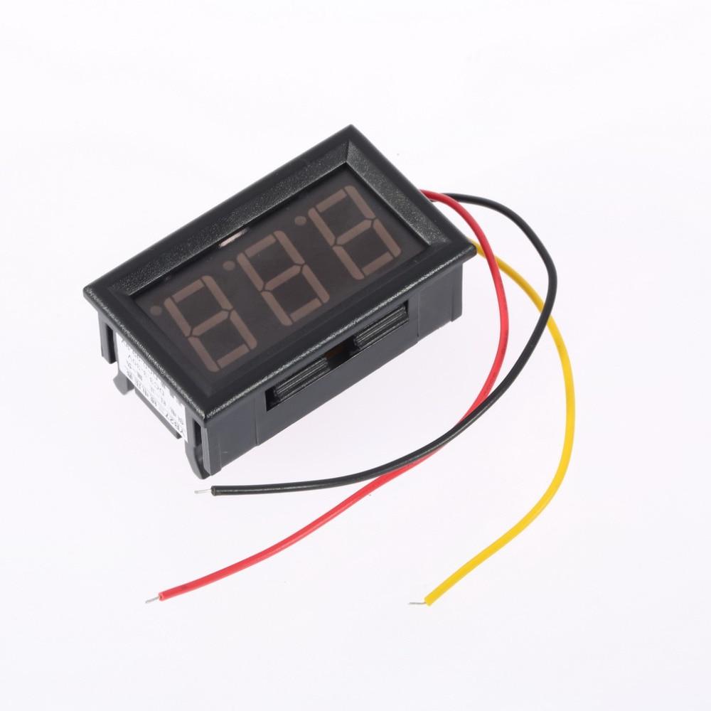 1pcs Mini Digital Voltmeter 4.5-30V 3 wires Vehicles Motor Voltage Panel Meter led Display Color:Red