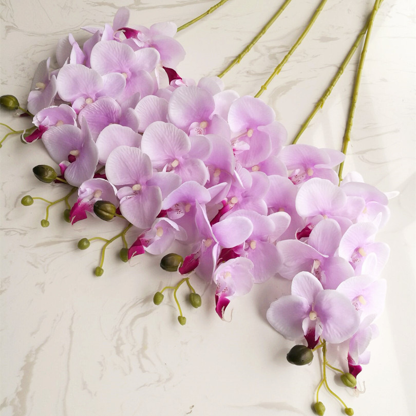 Single stem butterfly orchid artificial mini orchids