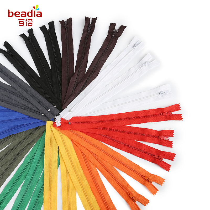 10pcs/lot 20cm long 11 colors pick Nylon zipper on Cloth/Bags/Wallet for Garment Tailor Sewing Tools Accessories
