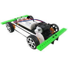 OCDAY Self assembly DIY Mini Battery Powered Car Model Kit Children Kids Educational Toy Giftest New Sale