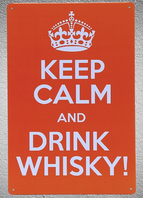 1 piece Keep Calm and drink Whisky Tin Plate Sign wall Room man cave Decoration Art Dropshipping Poster metal