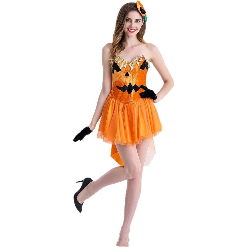 Umorden Halloween Party Costumes Women Pumpkin Witch -9994