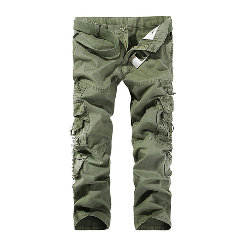 New Sale mens Casual Cotton Cargo Pants 2017 Military Combat Camouflage Loose Pants Trou ...