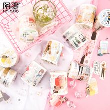 Milk tea girl Bullet Journal Washi Tape Adhesive Tape DIY Scrapbooking Sticker Label Japanese Masking tape