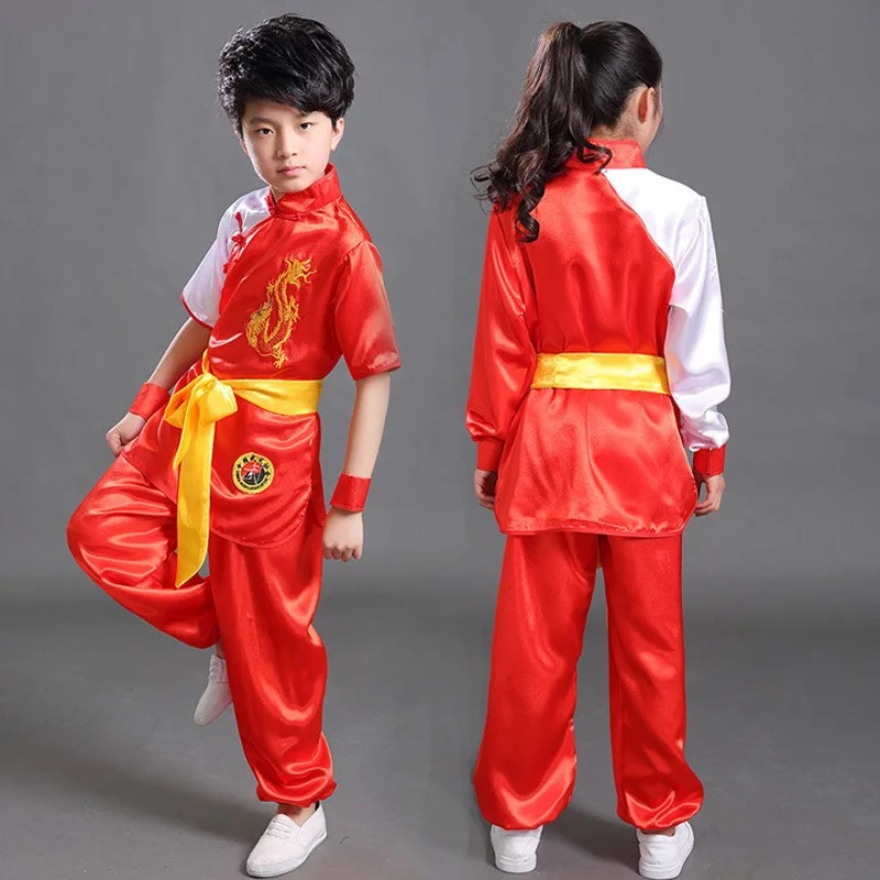 Bjj Elegant Cool Non-ironing Wear-resistant Washable High Overhang Wushu Kong Fu Suit Tai Chi Martial Art Uniform For Child