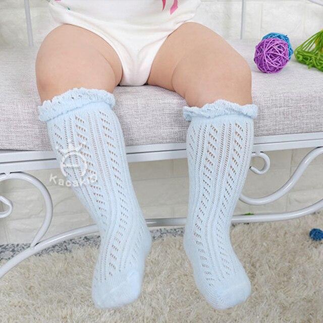 0-3 Years New Breathable Summer Baby Socks Cotton Knee High for Newborns Boys Girls Kids Infant Childrens Socks Bebe Clothes 4