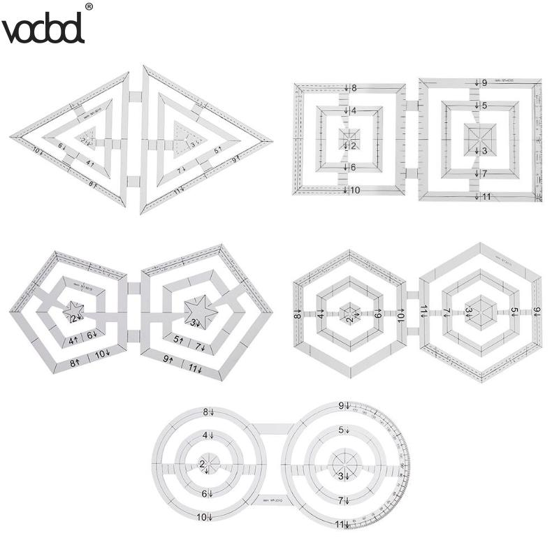VODOOL Patchwork Ruler Handmade Quilt Templates Acrylic Patchwork Ruler DIY Quilter Drawing Tool Quilting Ruler For Patchwork