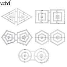 VODOOL Patchwork Ruler Handmade Quilt Templates Acrylic DIY Quilter Drawing Tool Quilting For