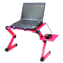 Portable 360 Folding Laptop Desk Computer Table 2 Holes Cooling Laptop Stand Desk Holder with Mouse Pad Notebook Table for Bed