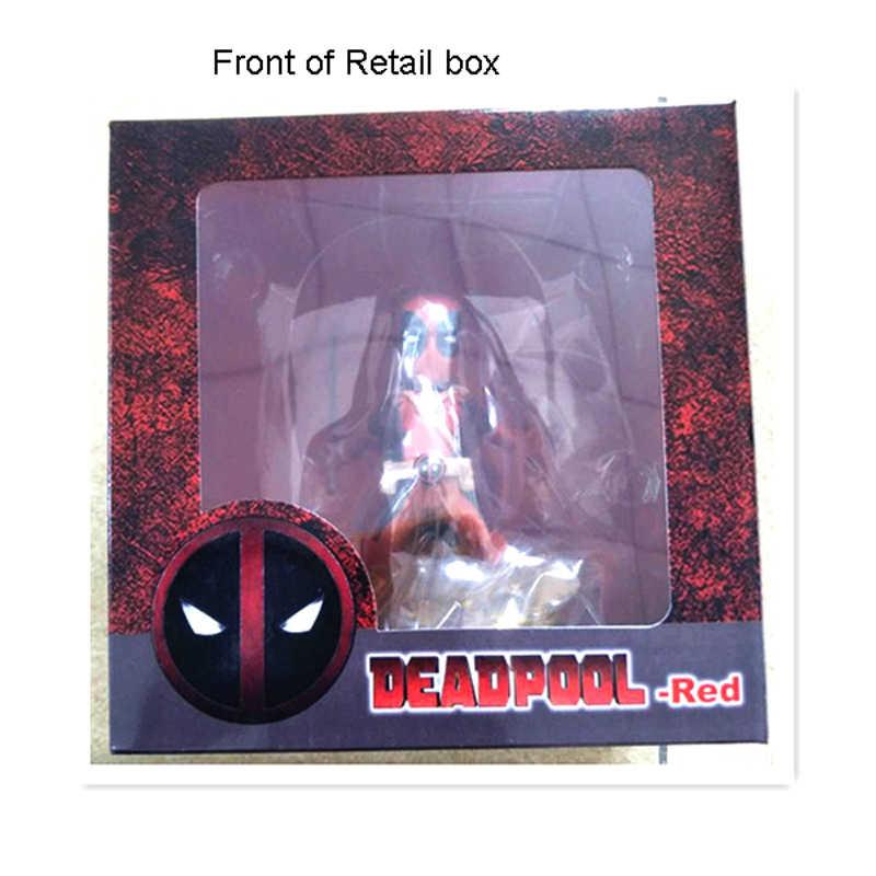 """Frete Grátis 4 """"Os Vingadores Deadpool Red Flame Ver. batalha Encaixotado 10 cm Ação PVC Figura Coleção Modelo Boneca Brinquedos de Presente"""