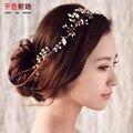 Mulheres headband do artesanais enfeites de cabelo pérola acessórios de jóias de casamento decoração Festival festa de casamento Presentes de cristal milu