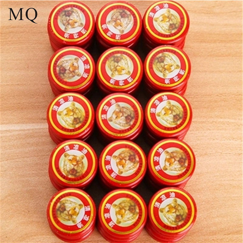 10pcs/lot Summer Cooling Oil Refresh Brain Tiger Balm Drive Out Mosquito Eliminate Bad Smell Treat Headache Chinese God Medicine image