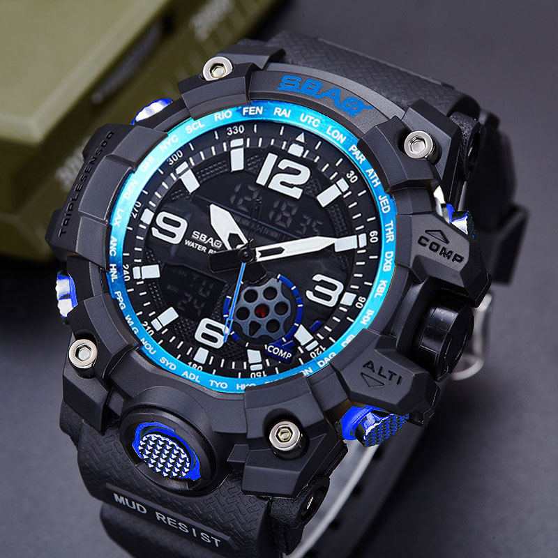 SBAO Sport Watch Men Top Brand Luxury Famous Male Clock Electronic LED Digital Wrist Watches For Men Hodinky Relogio Masculino drop shipping gift boys girls students time clock electronic digital lcd wrist sport watch july12