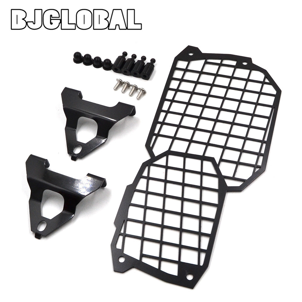 BJGLOBAL Stainless Steel Motorcycle Front Headlight Protective Cover For BMW F800GS ADV F700GS F650GS Twin 08