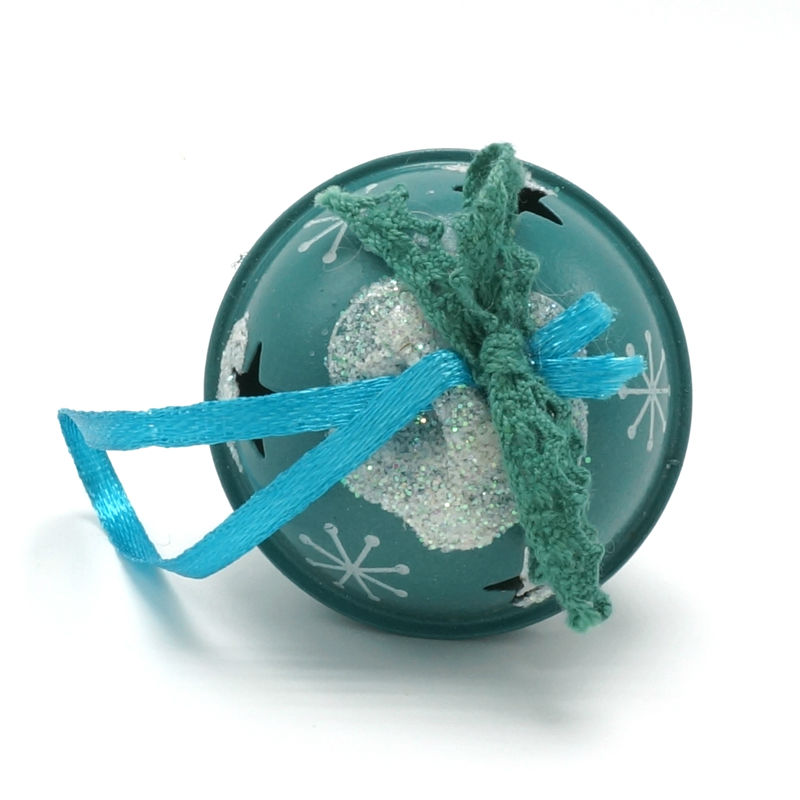 Decoración navideña 6 pcs metal azul brillante Jingle Bells 50 mm - Para fiestas y celebraciones - foto 4