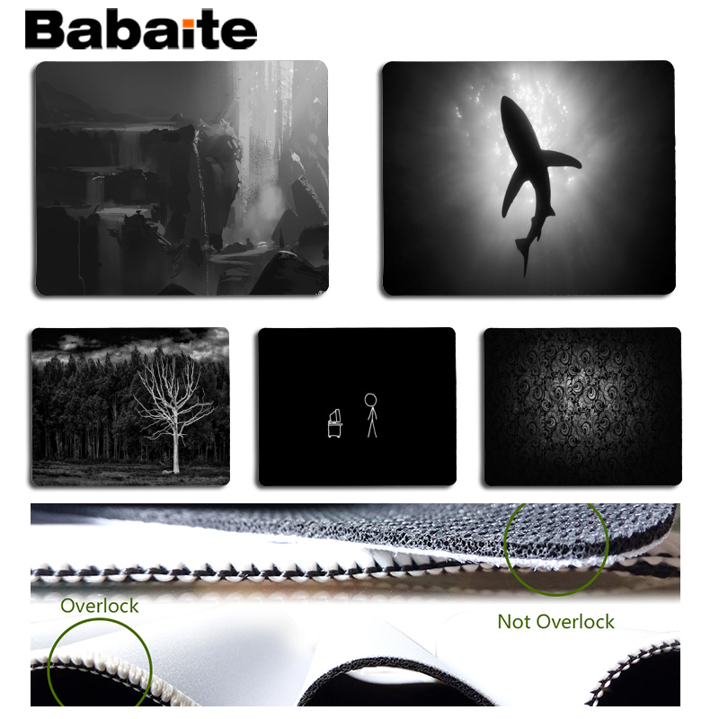 Babaite Cool New Black and White Computer Gaming Mousemats Size for 18x22cm 25x29cm Rubber Mousemats