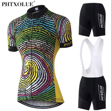 Phtxolue Team Women Cycling Clothing 2017 Breathable Black Yellow Bike Bicycle Wear Clothes Jersey Set Maillot Ciclismo