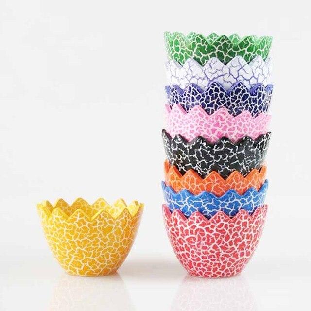 Perfect Multicolor DIY Ceramic Egg Shell Shaped Garden Plant Pots Home  FV56
