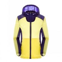 Spring Summer Quick Dry Patchwork Sunscreen Jacket Windproof Hoodies Light Outdoor Camping Climbing Running Skin Couple