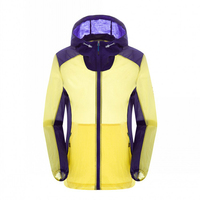 Primavera verano de secado rápido protector solar Patchwork chaqueta a prueba de viento Hoodies exterior Camping escalada Running piel ropa pareja