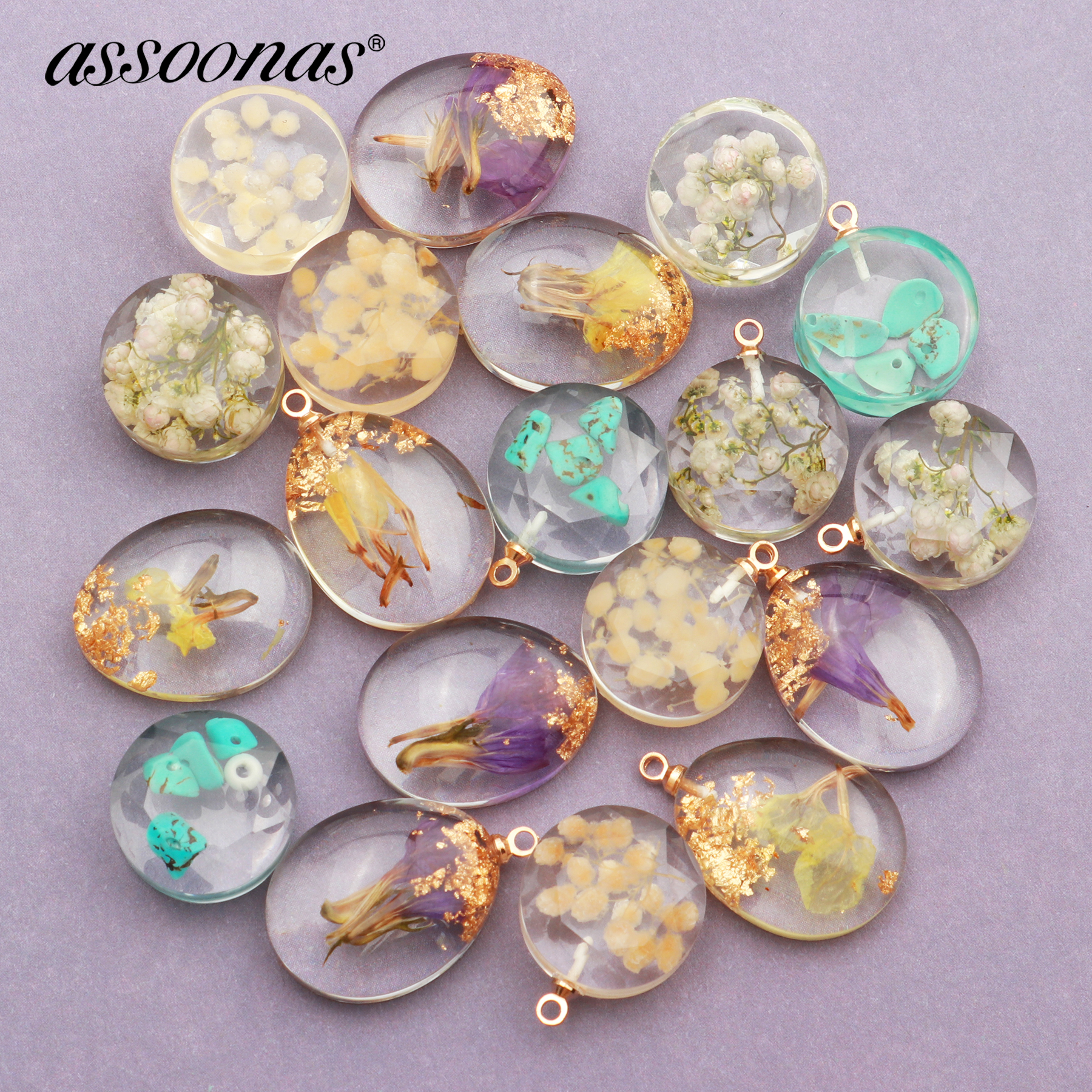Assoonas M404,jewelry Accessories,diy Flower Pendant,jewelry Findings,uv Epoxy,hand Made,jewelry Making,diy Earrings,10pcs/lot