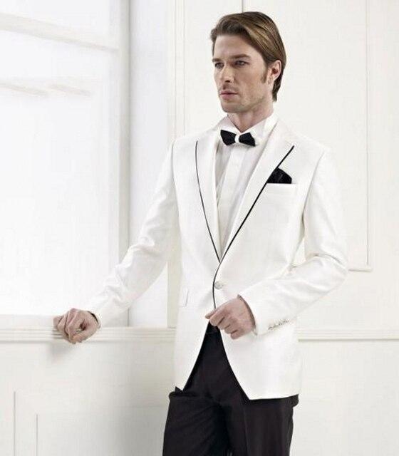 Marca de Ropa de Los Hombres Por Encargo Del Novio de Baile Traje de Esmoquin para Hombres Trajes de boda Slim Fit Traje Chaqueta y Pantalones de Ocasión Especial vestidos