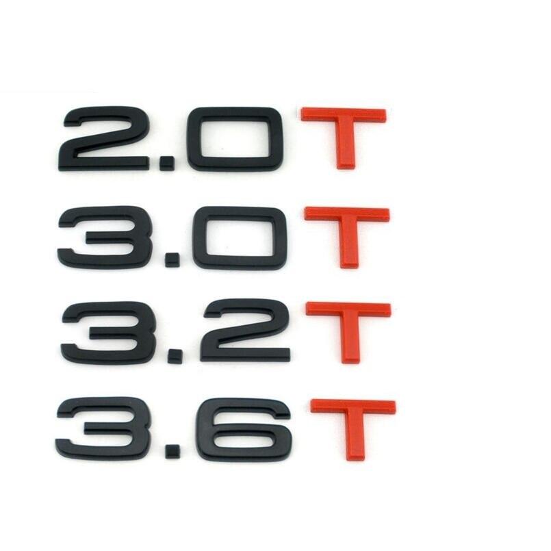 Gloss Black Red T 1.8T 2.0T 3.0T 3.2T 3.6T Trunk Badges Emblems Emblem Badge for Audi A4 A4 A6 A7 A8 S3 S4 R8 RSQ5 Q5 Q5L A6L