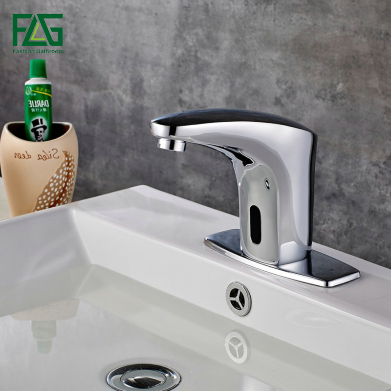 купить FLG Automatic Touch Free Sensor Faucets water saving Inductive electric Water Tap Hot and Cold Bathroom Basin Faucet 8808 по цене 4744.19 рублей