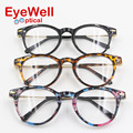 Fashion Women eyewear Metal temple arms optical frame Big Glasses Frame computer Vintage eyeglasses with Spring Hinge(9280)