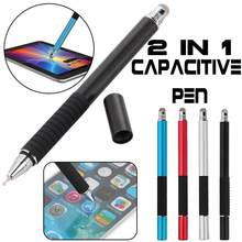 2 in 1 Multifunction Fine Point Round Thin Tip Touch Screen Pen Capactitive Stylus Pen For Smart Phone Tablet For Mobile Phone(China)